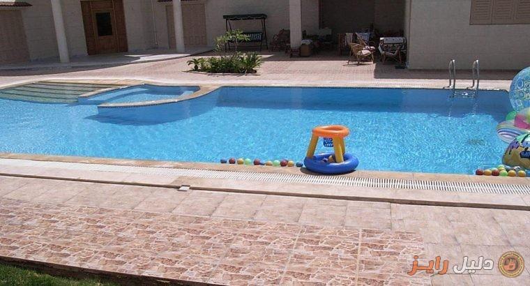 فيلا للبيع فى الكينج 1400 م دورين مع حمام سباحة