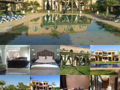 فيلا راقية للإيجار 5 غرف عصرية بمدينة مراكش المغرب